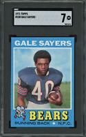 1971 Topps Gale Sayers #150 SGC 7 Near Mint Bears HOF