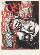 LEA GRUNDIG - CHILE 1973 * EAST GERMAN SMALL POLITICAL ART PRINT 1975