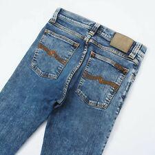 Mens Nudie Jeans High Kai Skinny Fit Stretch Jeans Light Handbrush Blue W29 L32