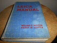 Photography Book...LEICA MANUAL by MORGAN & LESTER(1937 edition)