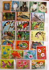 Large Pictorials stamp selection (24) Cats Birds Flowers etc