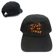 BLACK TRICK OR TREAT 100% Cotton Baseball Cap Hat Adjustable