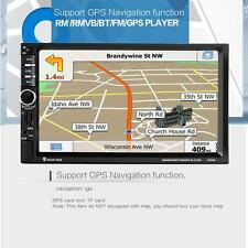 7''HD GPS Navigation 2Din Car Stereo FM/MP5/AUX Bluetooth Radio Iphone +Camera