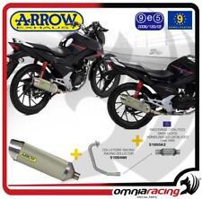 Arrow Full System Exhaust Thunder Aluminium Kat Honda CBF 125 15>16