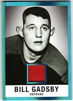 BILL GADSBY 2017-18 Leaf Hockey 1960 Leaf Originals Memorabilia Jersey #2/5