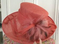 Formal COral Feather Hat