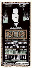 MINT & SIGNED Nine Inch Nails 1995 Mecca Arena Milwaukee Arminski Poster