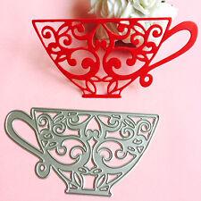 Tea Cup Cutting Dies Stencil DIY Scrapbooking Album Paper Card Embossing Craft