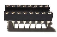 50pcs Ic Sockets Dip 16 Machined Round Contact Pins Holes 254mm Dip16 Dip 16