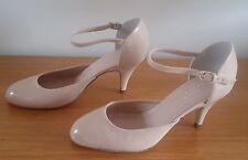 NEW CARVELA KURT GEIGER Nude Patent Ankle Strap Pump Heels - Size 6 (EUR 37)