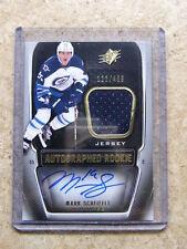 11-12 UD SPx Autographed Rookie RC Jersey MARK SCHEIFELE /499