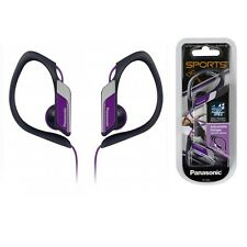 Panasonic RP-HS34-V Headphones Clip-On Sports Hook Water-Resistant RPHS34 violet