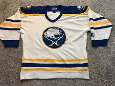 Vintage 90s Mens Large Starter Buffalo Sabres NHL Hockey Away Jersey