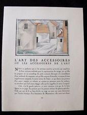 Pierre Mourgue  L'Art des Accessoires 1924 Gazette du Bon Ton texte M. Astruc
