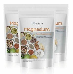 MAGNESIUM - Magnesium Oxide Tablets, Fibromyalgia,Tiredness, Fatigue, PMS x 60