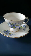 B & C Bone China Tea Cup & Saucer Made in England Crown Emblem on the Bottom