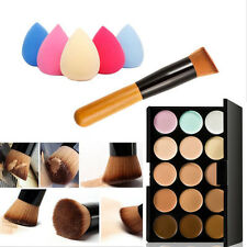 15 Color Face Contour Highligh Makeup Concealer Palette Sponge Puff Powder Brush