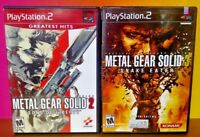 Metal Gear Solid 2 Liberty + 3 Snake PS2 Playstation 2 Tested Game Lot Complete
