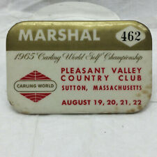Vintage 1965 Marshal Pleasant Valley Country Club Sutton, Massachusetts Badge