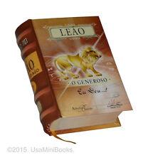 Leao, O Generoso signo do zodíaco miniature book hardcover easy to read