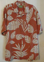 Tommy Bahama Floral Silk Short Sleeve Shirt Size M Aloha Hawaiian Camp Mens