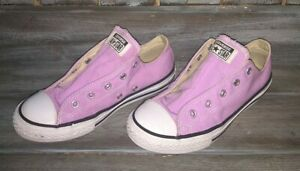 Converse Chuck Taylor OX Low Top Shoes Youth Pastel Purple Kids Sz 3 worn 1X WOW
