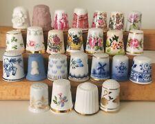 More details for franklin mint 25  thimbles world's greatest porcelain houses set collection