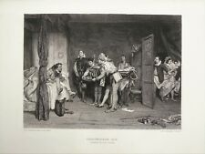 Christopher Sly (Bändigung Spitzmaus) - Shakespeare 1800s Antique Print B/W Gravur