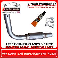 VW LUPO 1.0 i 1999-2005 scarico di sostituzione, riparazione Flex Flexi Per Catalitico Tubo