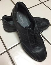 ECCO Black Leather Lace Up Oxford Shoes Shock Point Athletic 39 US 8 8.5 Womens