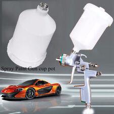Car Plastic Air Gravity Feed Spray Paint Gun Airbrush Cup Pot 600ml Capacity