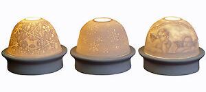 LED-Teelicht Porzellan weiß Motiv durchscheinend (19191w) Magic Moments Light