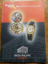 Patek Philippe Museum Brochure Tribune Des Arts / Watches French & English