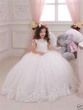 New Princess Flower Girl's Dresses Ruffles Ball Gown Girl's Gowns For Wedding &&