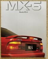 1991 Mazda MX-6 original Australian sales brochure (10/90)