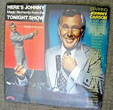Vintage HEREs JOHNNY Tonight Show 2 Record Collectors Ed Set + Poster New Sealed