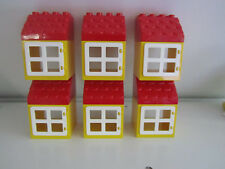 Lego Duplo House Home Shop Windows Box Panes Roof Lot Set of 6    NEW