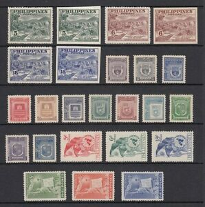(RP51) PHILIPPINES - 1951 COMPLETE YEAR STAMP SETS. MUH