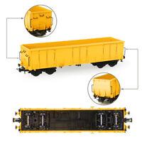1pc/3pcs HO Scale Yellow Open Gondola Car 1:87 Railway Wagons Rolling Stock