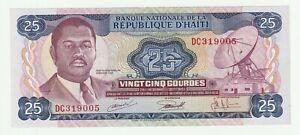 Haiti 1973 25 Gourdes P.218 ( UNC- ) Rare