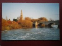 POSTCARD B10 BUCKINGHAMSHIRE OLNEY CHURCH AND THE RIVER OUSE