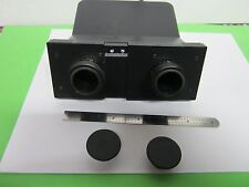 MICROSCOPE PART LEITZ PORTUGAL HEAD WITHOUT EYEPIECES OPTICS AS IS BIN#39-C