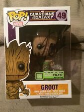 Stan Lee Signed Funko Limited Glow In The Dark Guardians of the Galaxy Groot 49