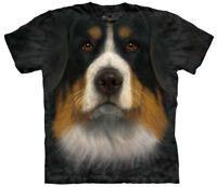 Bernese Mountain Dog Face Close Up Pet Dog Adult T-Shirt Tee