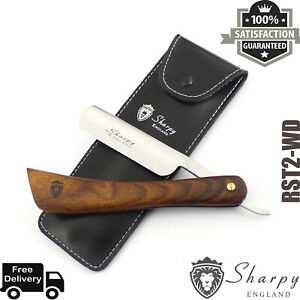 VINTAGE STRAIGHT CUT THROAT SHAVING RAZOR BARBER SALON  READY SHAVE WITH POUCH