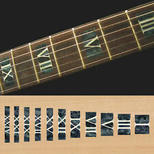 Fret Markers Inlay Sticker Decal Guitar Bass - Roman Numeral Block - Black Pearl
