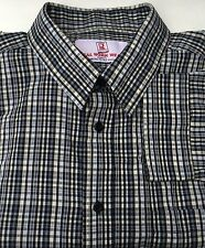 Real Work Wear Mens XL Cotton Button Front Shirt Long Sleeves Multi Color Plaid