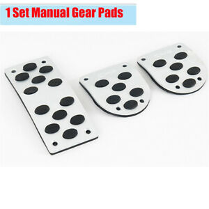 1 Set SUV Car Manual Gear Pads Pedals Cover Non-slip Stainless Steel + Rubber