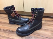 "Ltd Edition Timberland 6"" Premium Winter Boots Black Waterproof Leather Size 10"