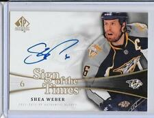 2015-16 SP Authentic Shea Weber Sign Of The Times 11-12 Update Auto 1:3,038